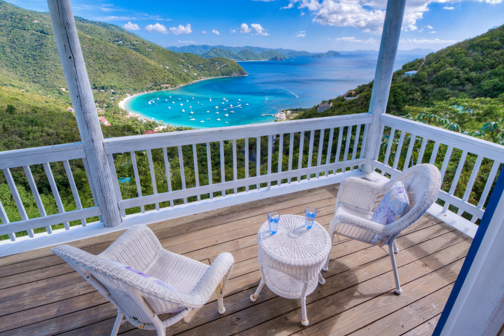 10. View from Makere Cottage covered deck with views over Cane Garden Bay