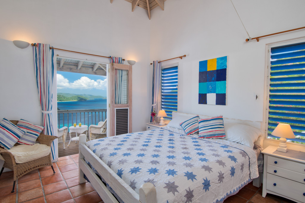 6. Makere House master bedroom looking out to the deck Cane Garden Bay and St John.2